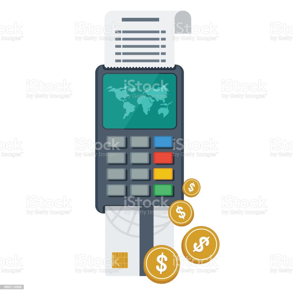 Terminal For Global Payment Stock Illustration - Download