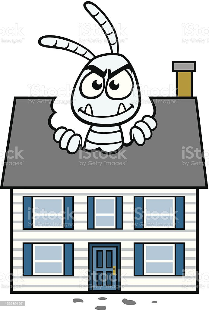 Termite Eating House royalty-free stock vector art