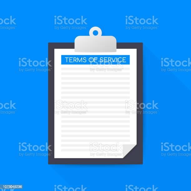 Ilustración de Términos De Servicio Icono De Documento Vista Superior  Términos De Conceptos De Uso Términos Y Condiciones Ilustración De Vector y  más Vectores Libres de Derechos de Acuerdo - iStock