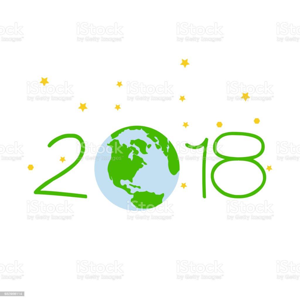 Terra 2018 vector art illustration