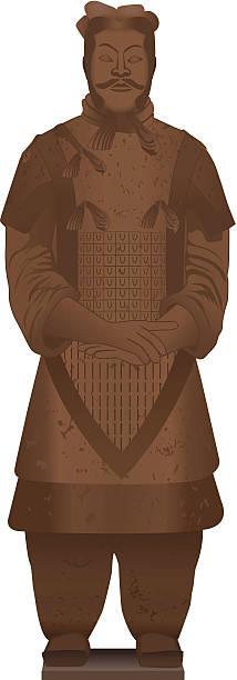 Terracota guerrero - ilustración de arte vectorial