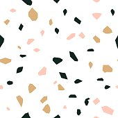 Terrazzo background pattern design, seamless vector illustration.