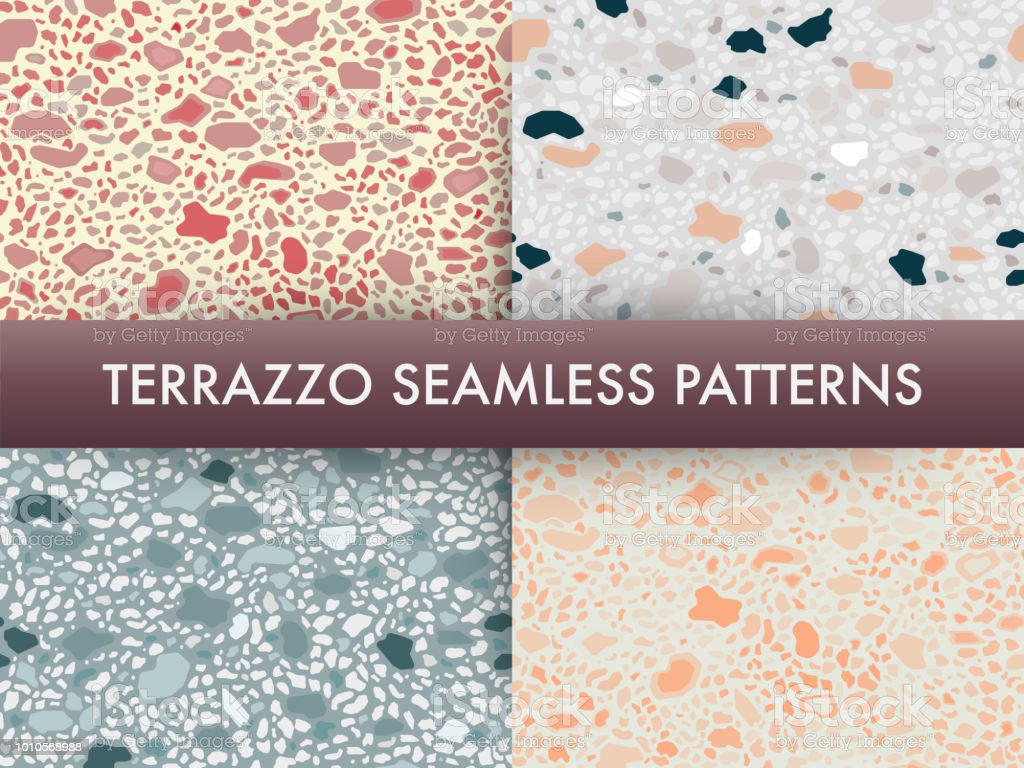 Terrazzo Floor Marble Seamless Pattern Settraditional