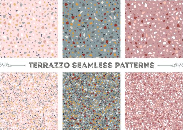 nahtlose muster terrazzo - steinstruktur stock-grafiken, -clipart, -cartoons und -symbole