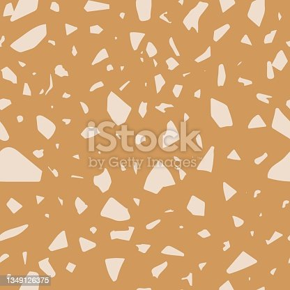 istock Terrazzo seamless vector pattern.  Abstract marble texture for backgrounds, prints or packaging design. 1349126375