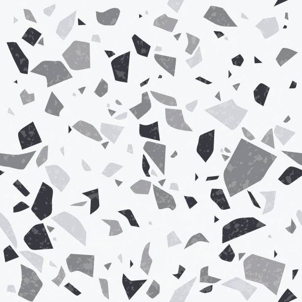 terrazzo vektor natürliche textur. nahtloses muster abstraktestein hintergrund - kieselmosaik stock-grafiken, -clipart, -cartoons und -symbole