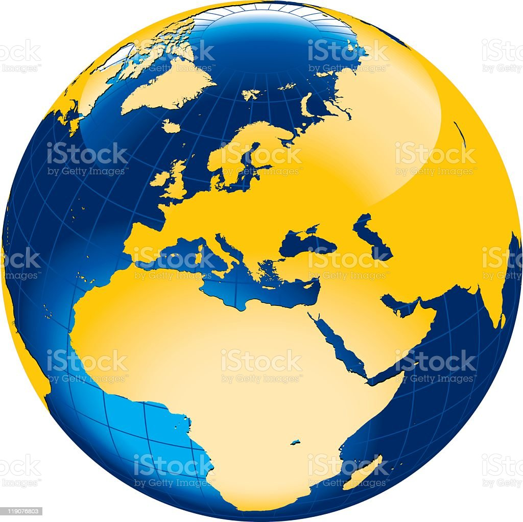 Terrestrial globe europeafrica side stock vector art more images terrestrial globe europeafrica side royalty free terrestrial globe europeafrica side stock gumiabroncs Images