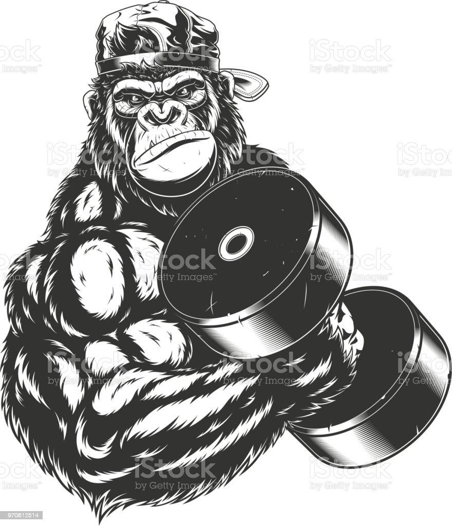 Ilustración de Terrible Gorila Atleta y más banco de imágenes de ...