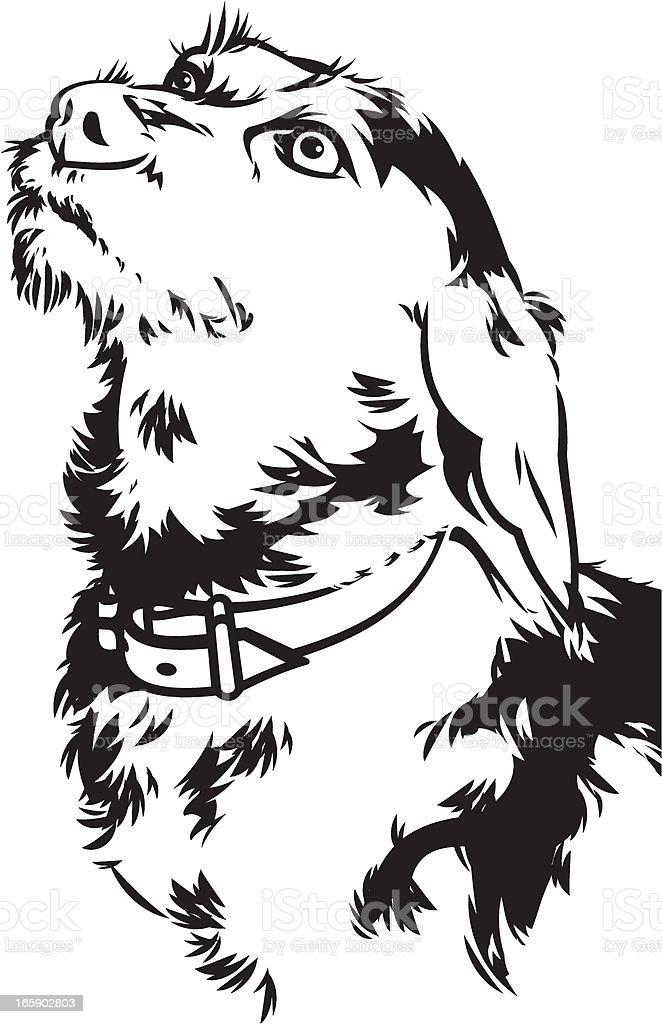 Terrier vector art illustration