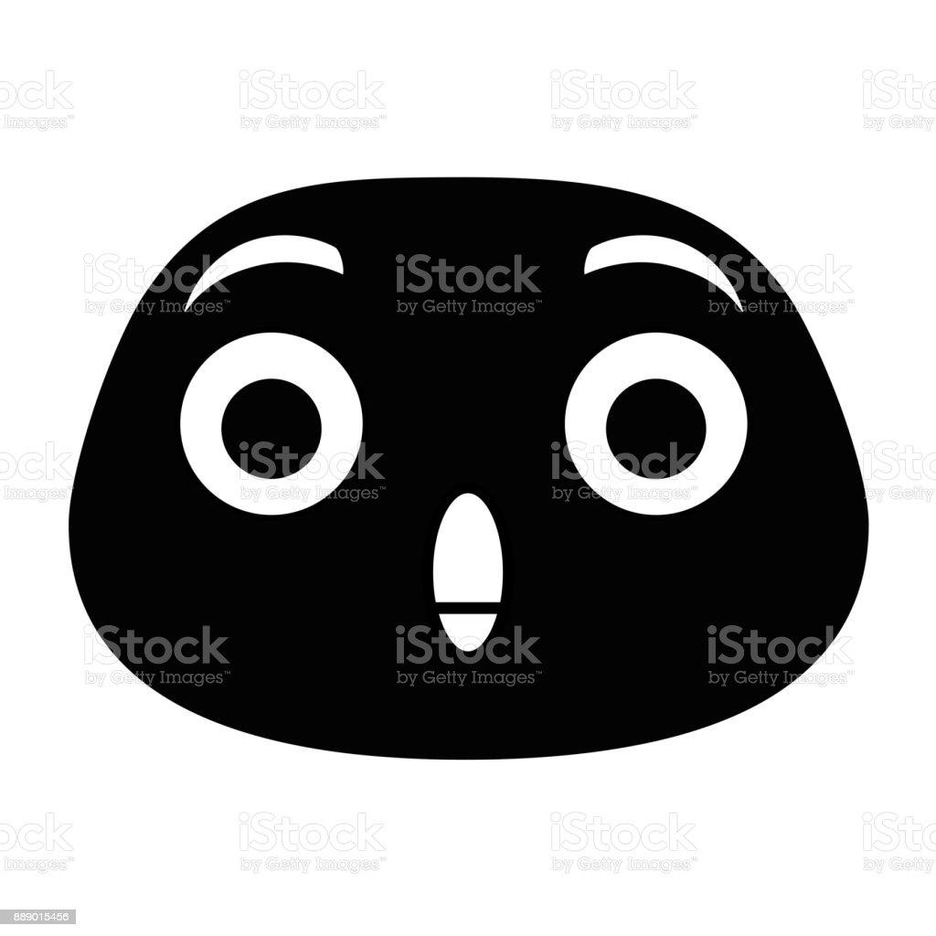 terrified emoji face icon vector art illustration