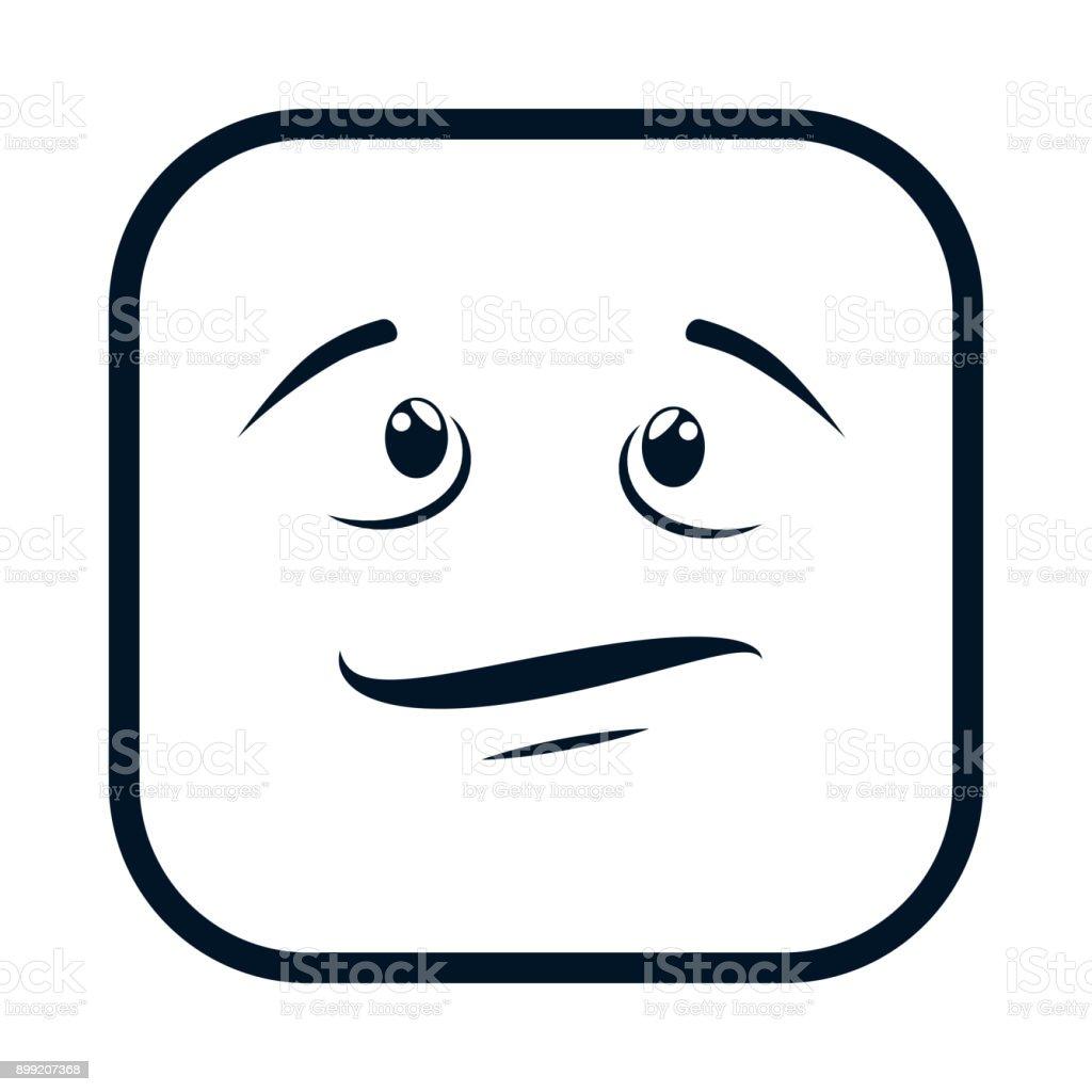 terrified face emoji character vector art illustration