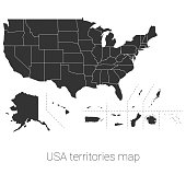 USA territories map