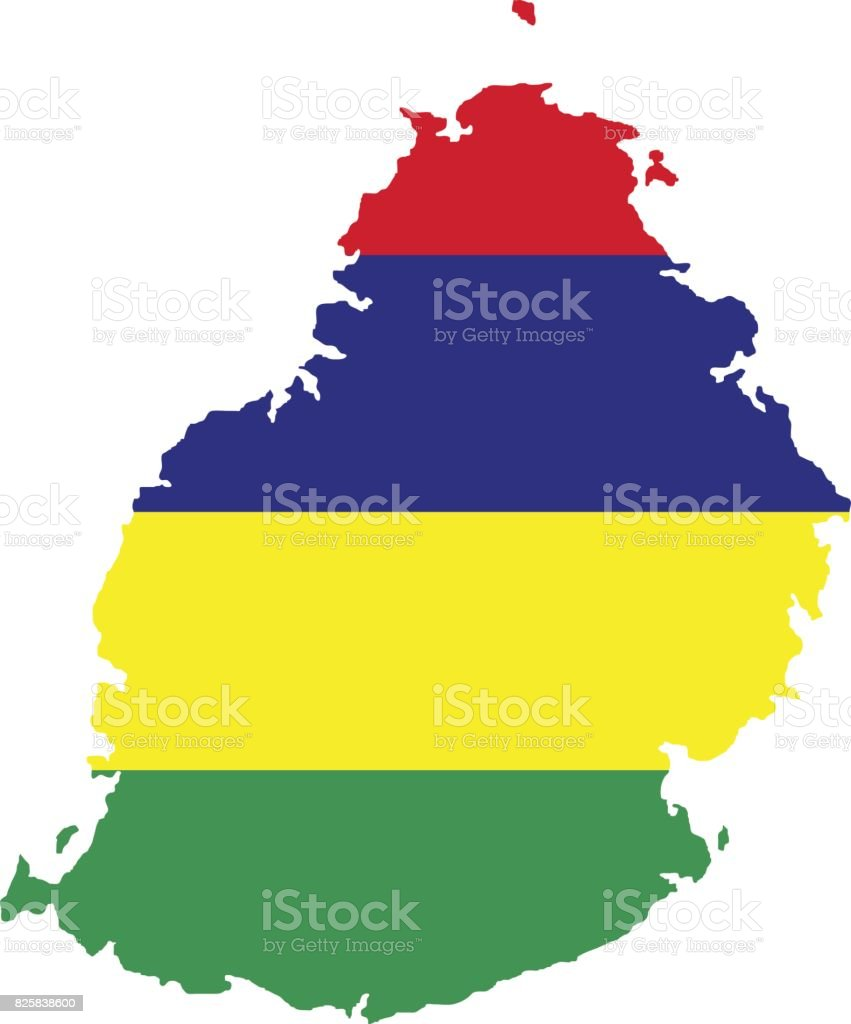 Territory And Flag Of Mauritius Stock Illustration - Download Image Now