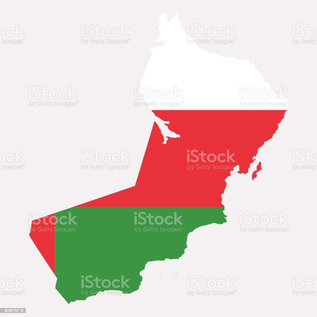 Territory and flag of Oman vector art illustration