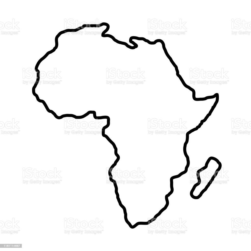 Cartina Dell Africa In Bianco E Nero.Territorio Dellafrica Su Sfondo Bianco Illustrazione Vettoriale Immagini Vettoriali Stock E Altre Immagini Di Africa Istock