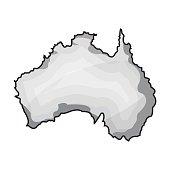 Territory of Australia icon in monochrome style isolated on white background. Australia symbol stock vector illustration.