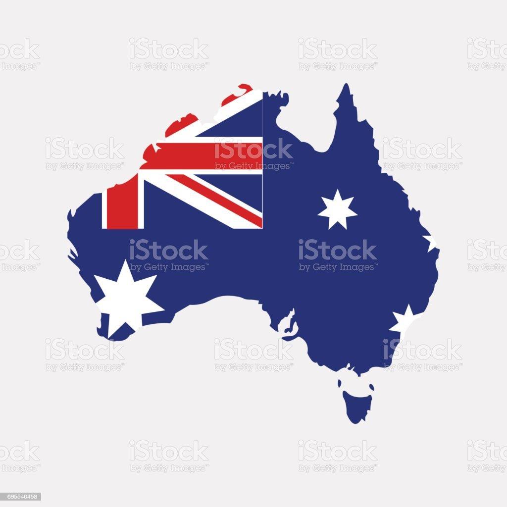Território da Austrália, sobre um fundo cinzento - ilustração de arte em vetor