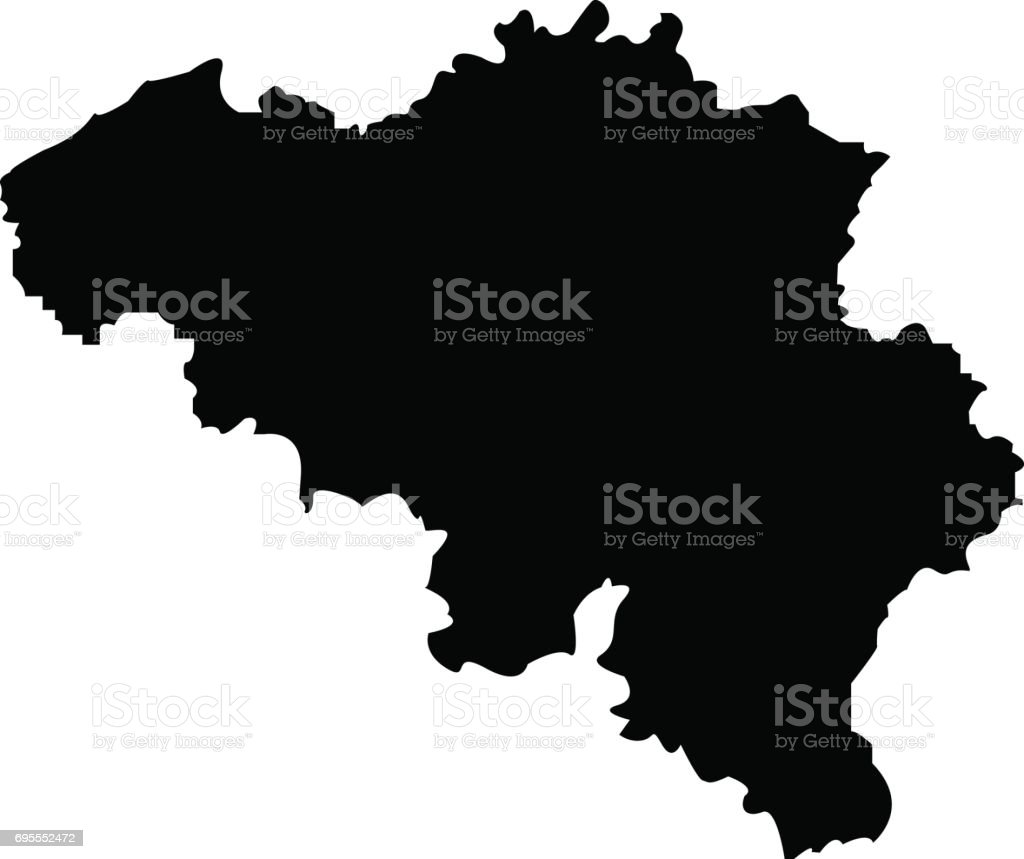 Territory of Belgium on a white background vector art illustration