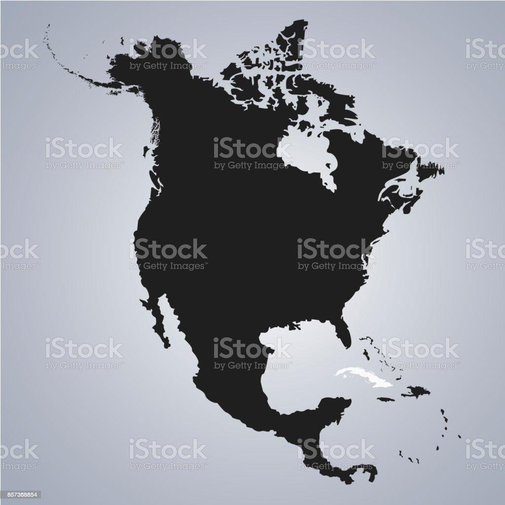 Carte Cuba Amerique.Territoire De Cuba Sur La Carte Continent De Lamerique Du Nord Sur