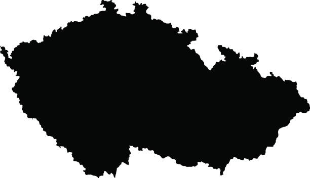 territory of czech republic - republika czeska stock illustrations