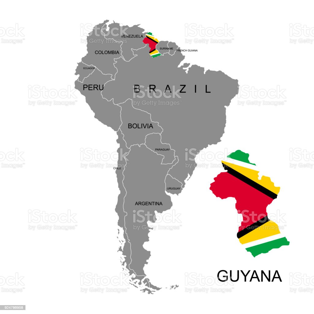 Territory of guyana on south america continent white background map outer space planet space planet earth sign territory of guyana on south america gumiabroncs Image collections