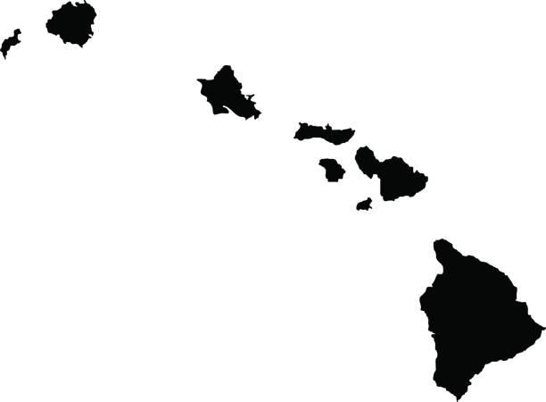 bildbanksillustrationer, clip art samt tecknat material och ikoner med territorium av hawaii - delstat hawaii