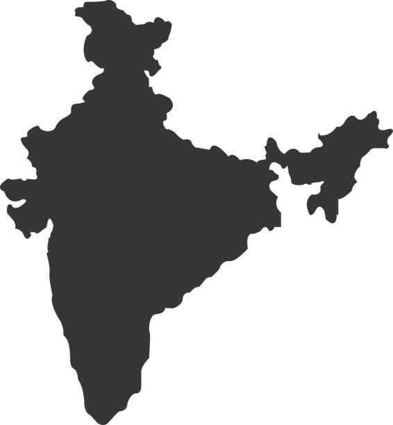 territory of india on a white background - indian stock illustrations, clip art, cartoons, & icons