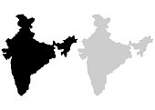 Territory of India on a white background