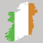 Territory of Ireland on a grey background