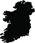 Territory of Ireland on a white background