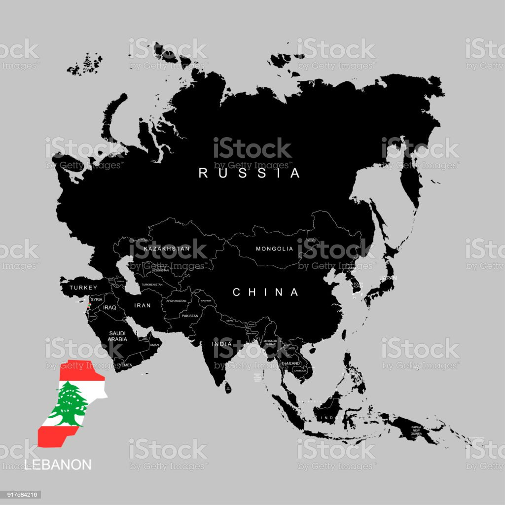 Territory of lebanon on asia continent flag of lebanon vector territory of lebanon on asia continent flag of lebanon vector illustration royalty free gumiabroncs Image collections
