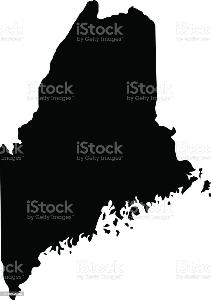 Territory of Maine vector art illustration