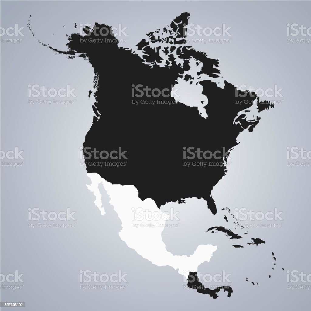 territory of mexico on north america continent map on the grey