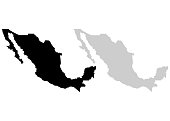 Territory of Mexico. White background
