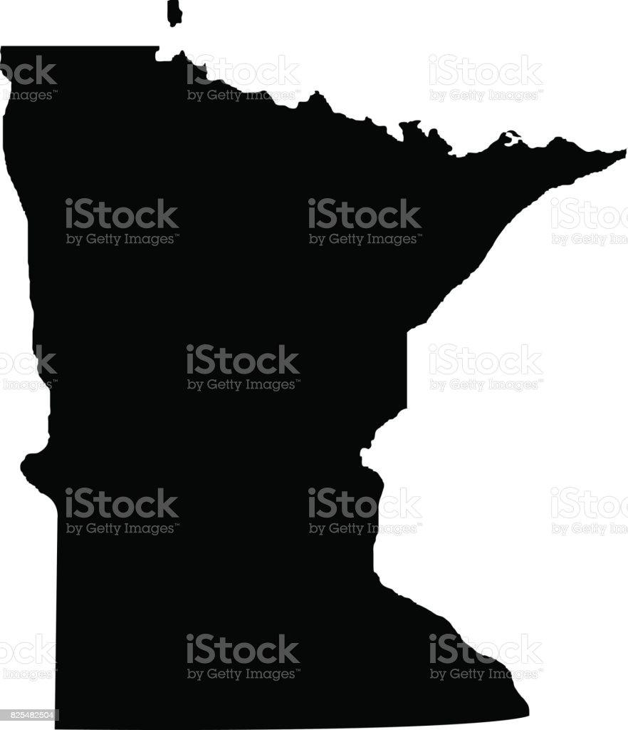 Territory of Minnesota vector art illustration