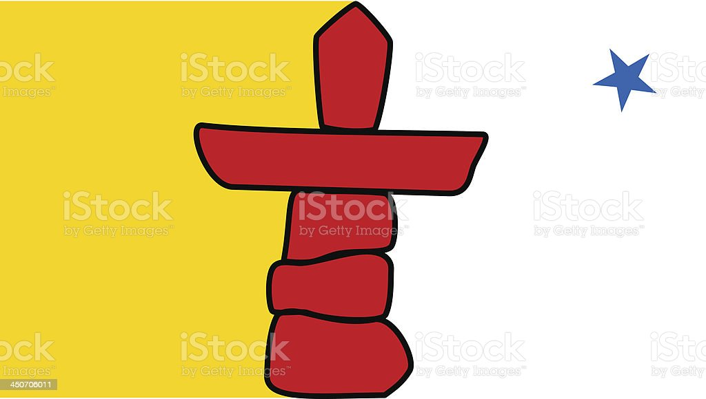 Territory of Nunavut (Canada) vector art illustration