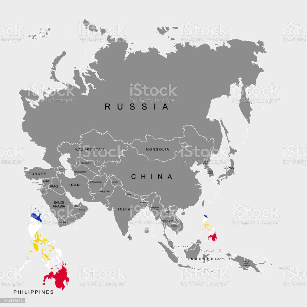 Territory of philippines on asia continent flag of philippines map outer space planet space sign world map territory of philippines on asia gumiabroncs Images
