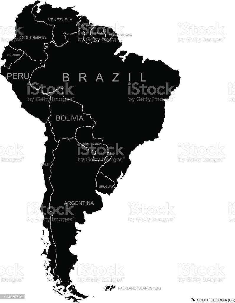 Territory of South America. Vector illustration vector art illustration