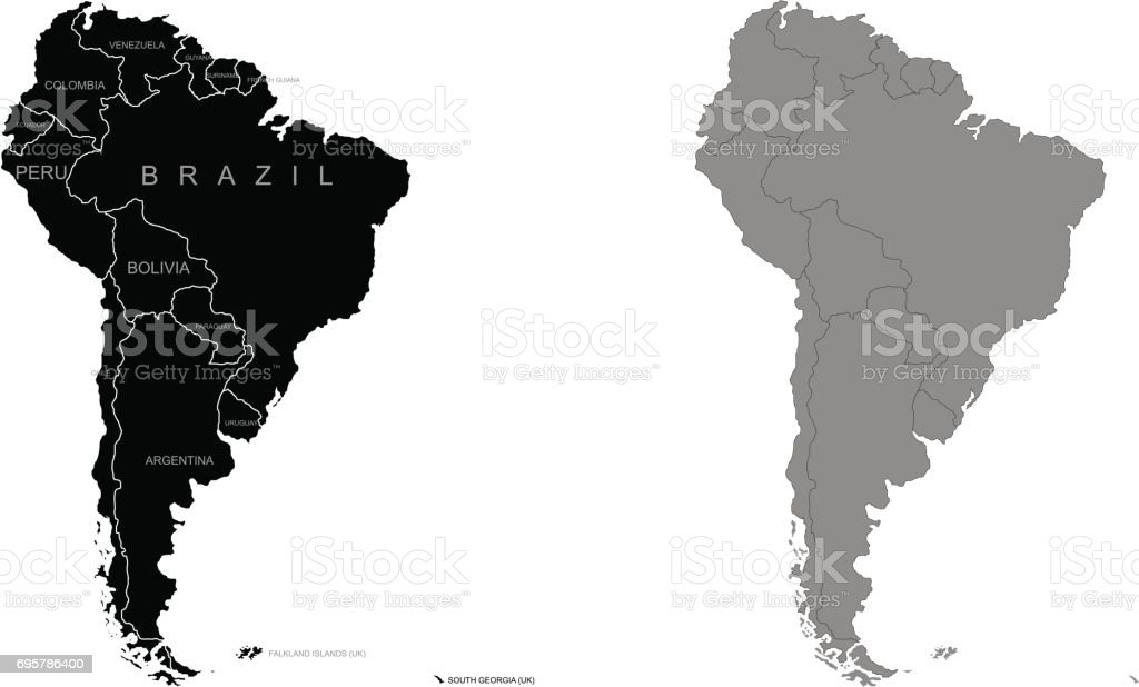Territory of South America. Vector illustration vector art illustration