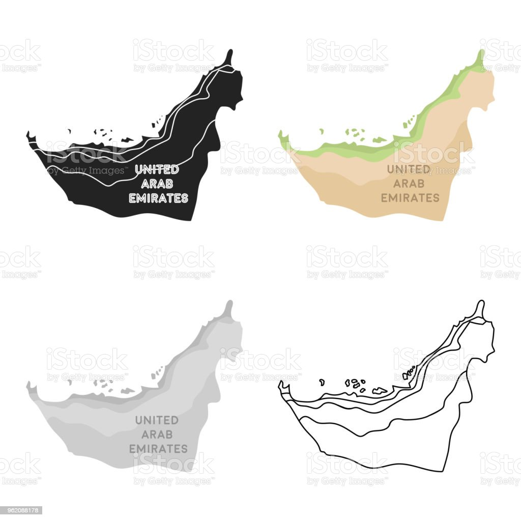 Territory Of United Arab Emirates Icon In Cartoon Style Isolated On