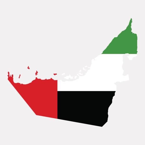 territory of  united arab emirates - uae flag stock illustrations
