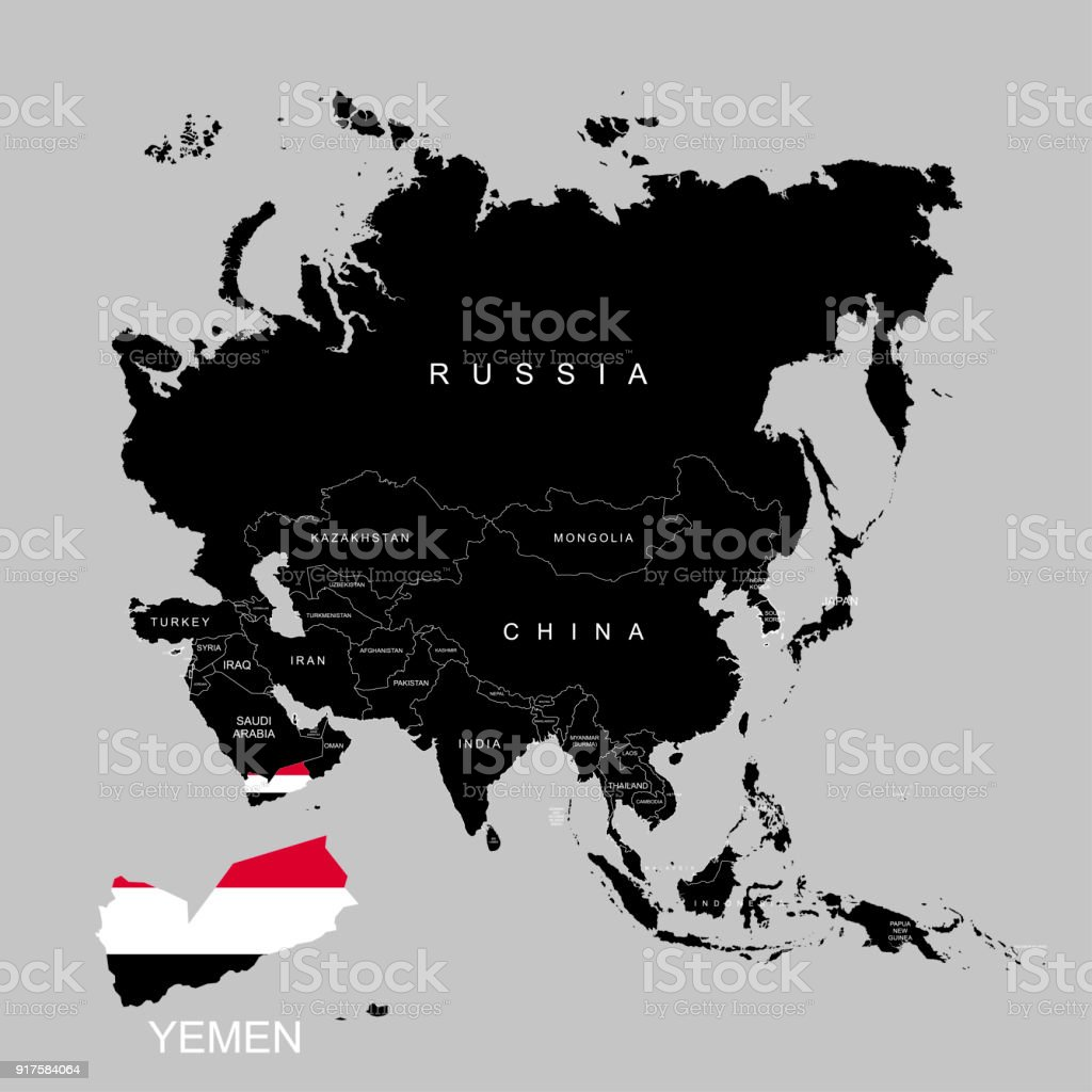Territory of yemen on asia continent flag of yemen vector territory of yemen on asia continent flag of yemen vector illustration royalty free gumiabroncs Choice Image