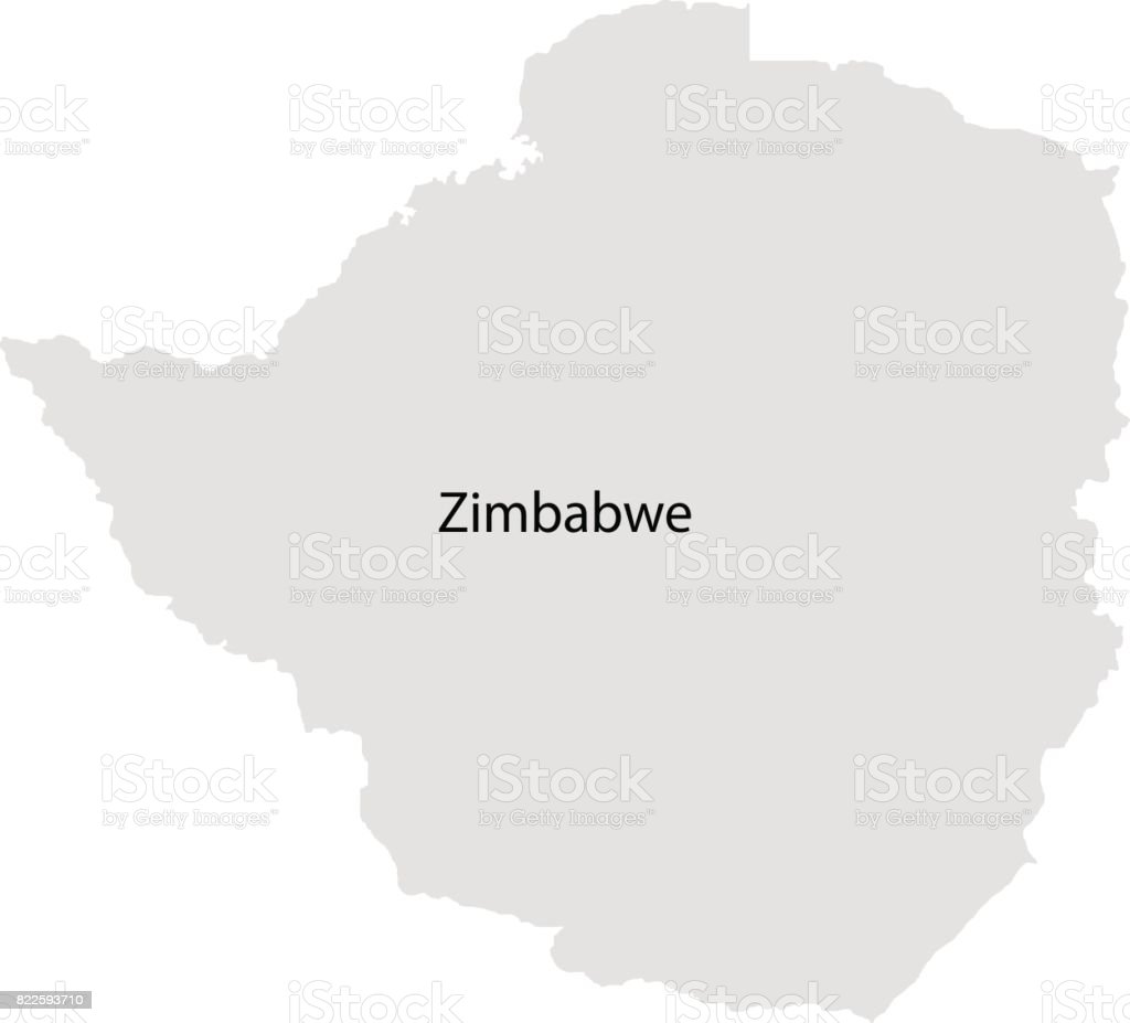 Territory of  Zimbabwe vector art illustration