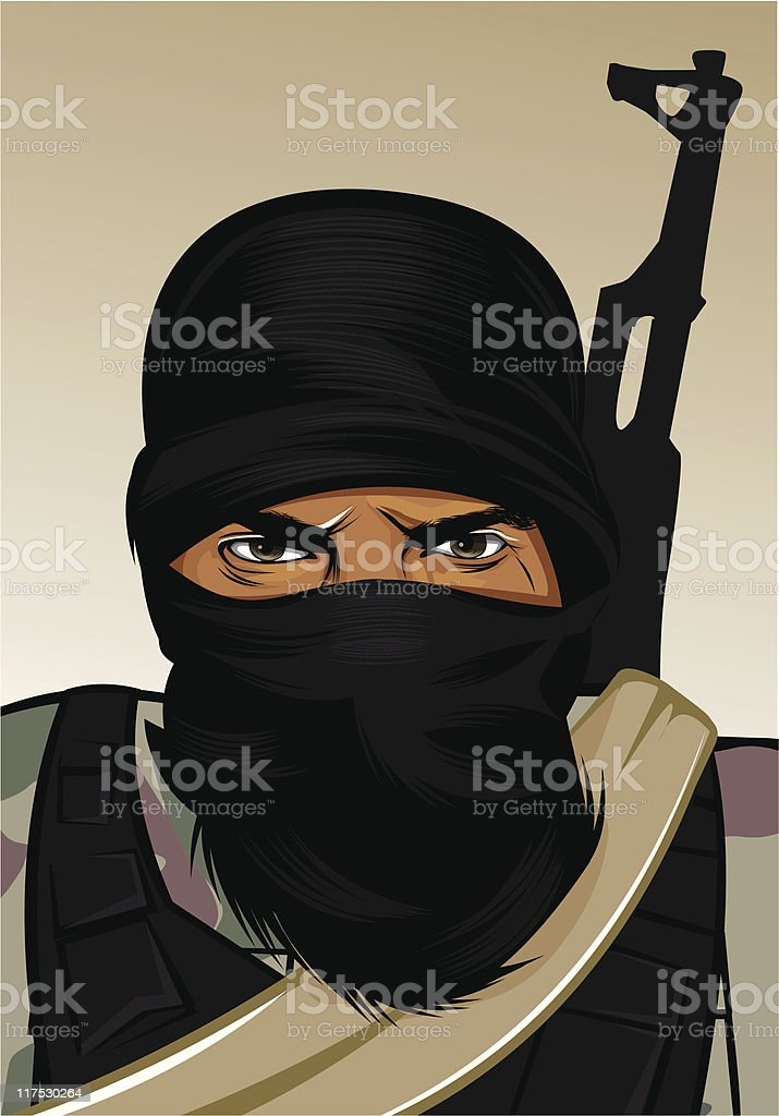 Terrorismus 2000 royalty-free stock vector art
