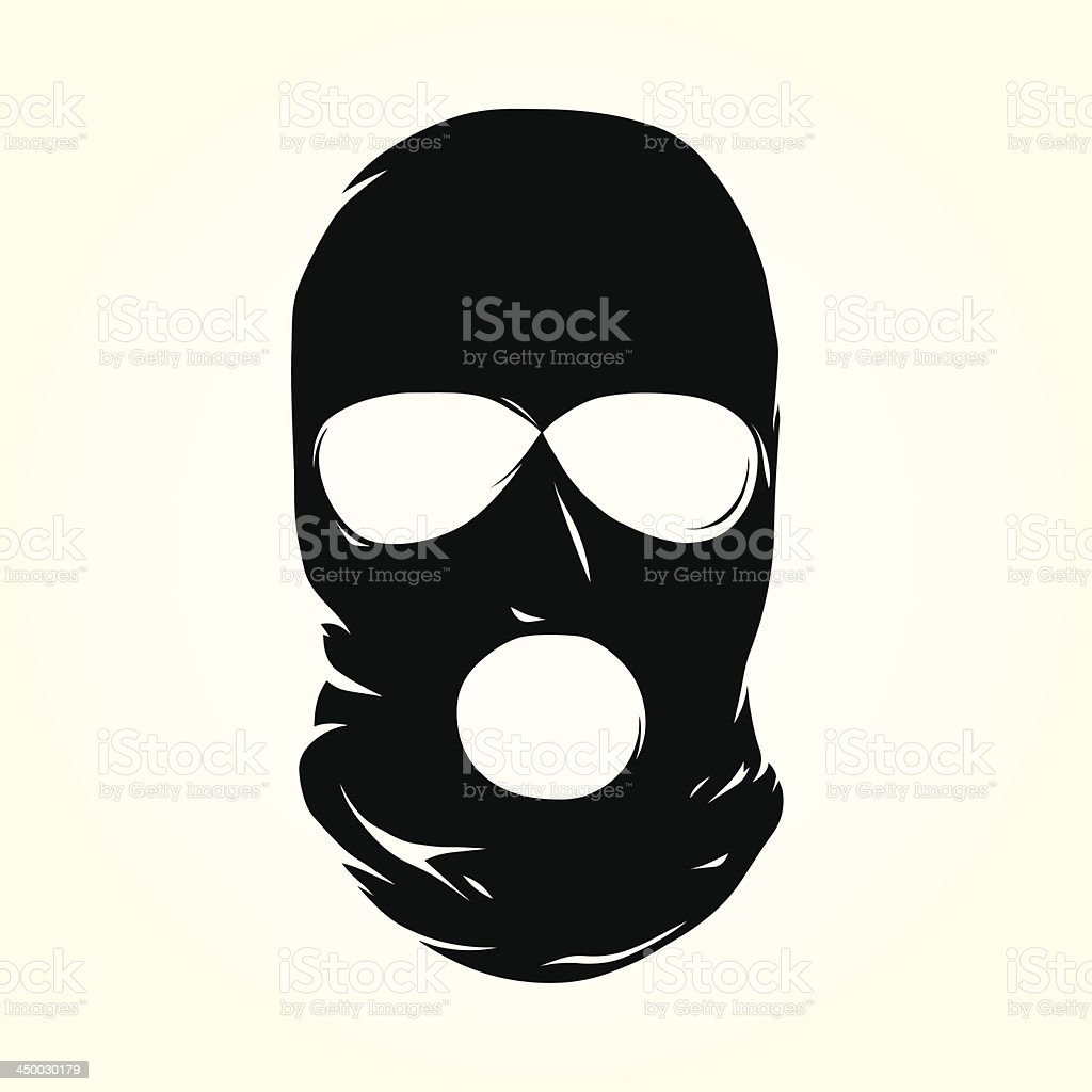 Terrorist mask vector art illustration