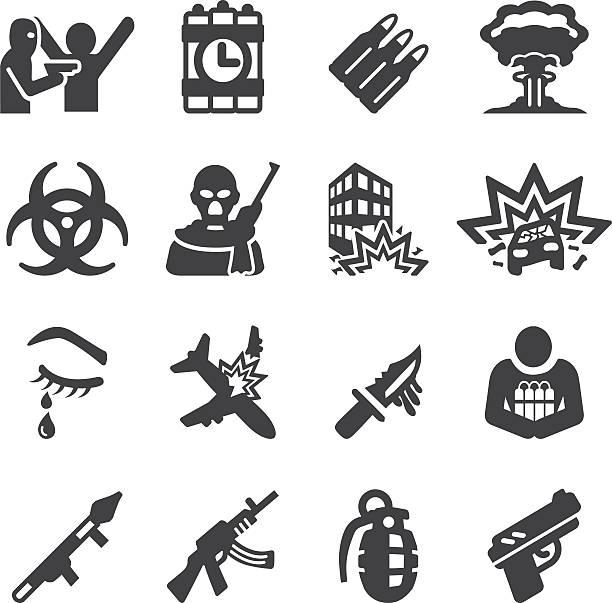 Terrorist Silhouette Icons | EPS10 Terrorist Silhouette Icons  terrorism stock illustrations
