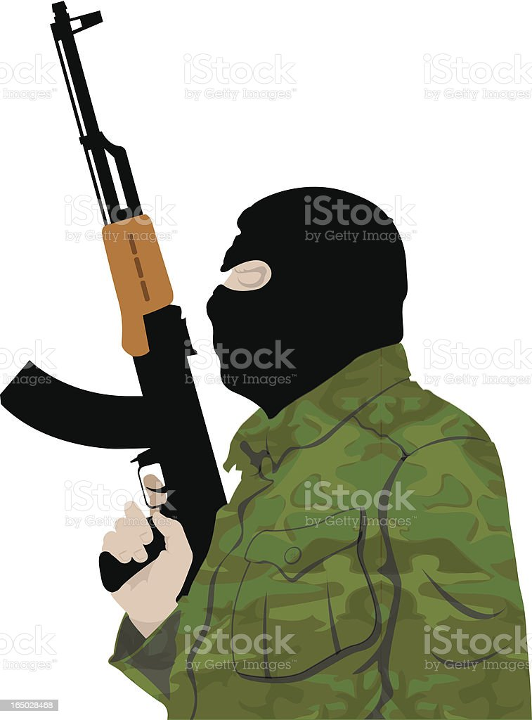 Terrorist royalty-free stock vector art