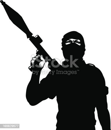Terrorist with a rocket launcher