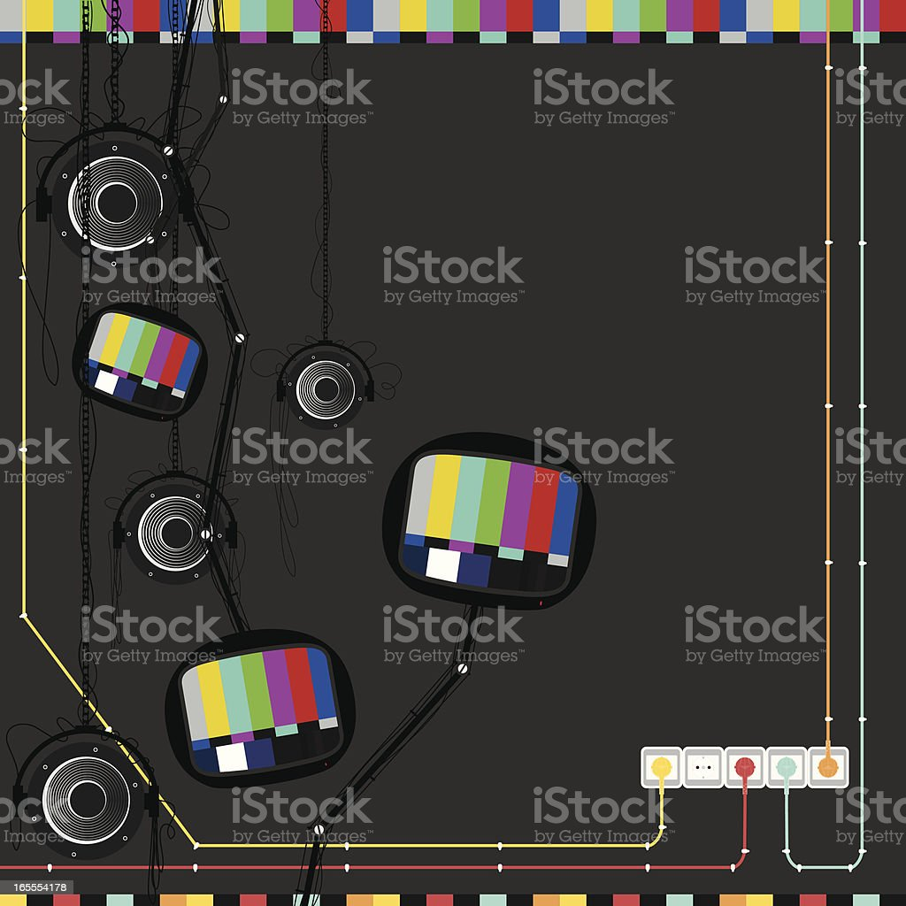 Test Broadcast vector art illustration