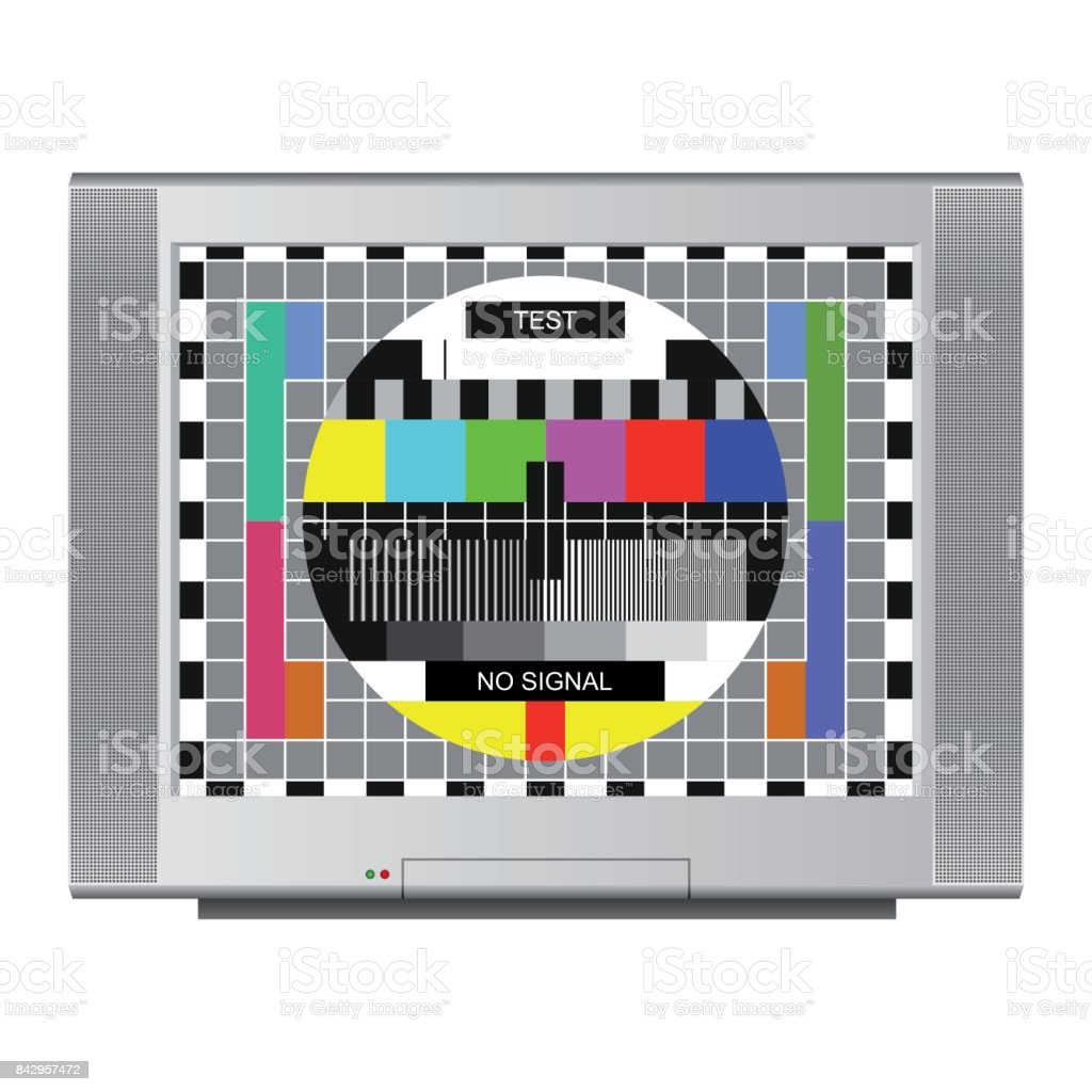 Test Card vector art illustration